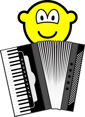 Accordeon spelende buddy icon