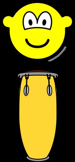 Bongo spelende buddy icon
