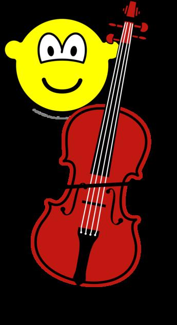 Cello spelende buddy icon