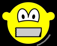 Dicht geplakte mond buddy icon