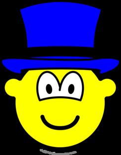 Blauwe hoed buddy icon