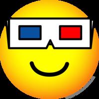 3D bril emoticon