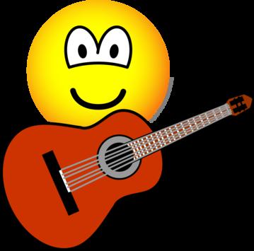 Akoestische gitaar emoticon