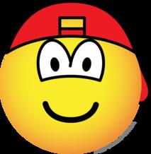 Achterwaardse cap emoticon