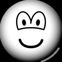 Zwart en wit emoticon