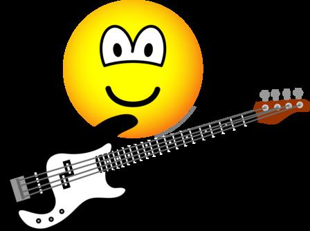 Bas gitaar emoticon