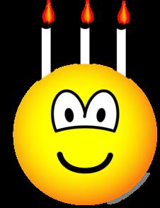 Verjaardagstaart emoticon