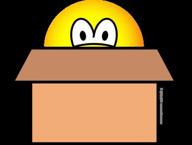 Kartonnendoos emoticon
