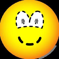 Gestippelde emoticon