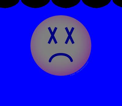 Verdronken emoticon