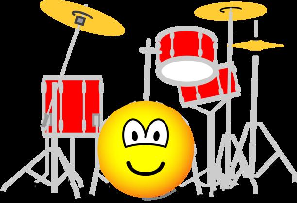 Drumstel emoticon