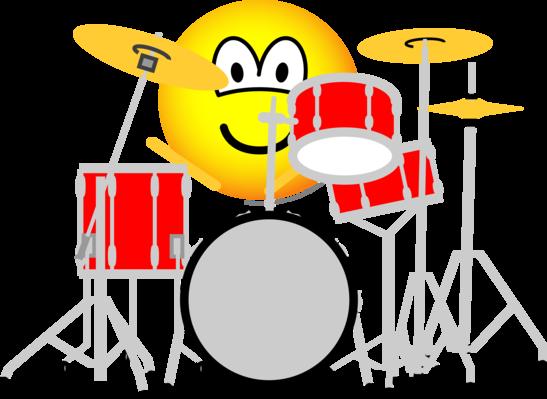 Drummende emoticon