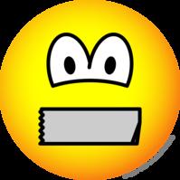Dicht geplakte mond emoticon
