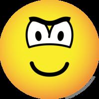 Fronsende emoticon