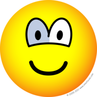 Glazen oog emoticon
