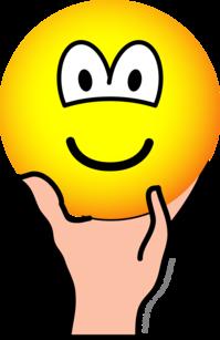 Vastgehouden emoticon