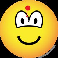 Geraakte emoticon