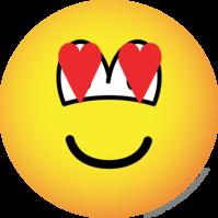 Verliefde emoticon