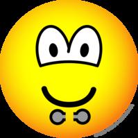 Gepiercde lip emoticon