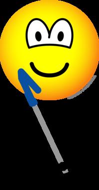 Metaal detector emoticon