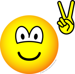 Vredes teken hand emoticon