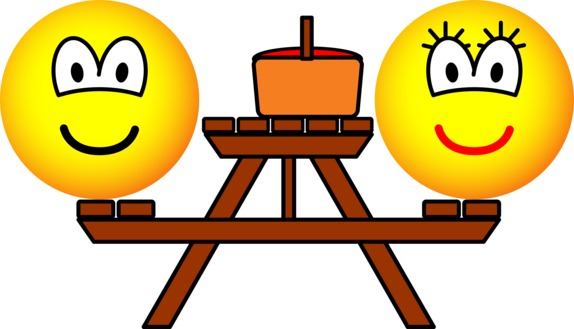 Picknick tafel emoticon