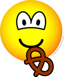 Pretzel etende emoticon