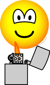 Pyromaan emoticon