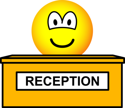 Receptie emoticon