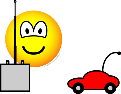 Afstandsbestuurbare auto emoticon