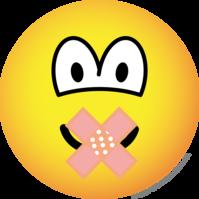Zwijgende emoticon