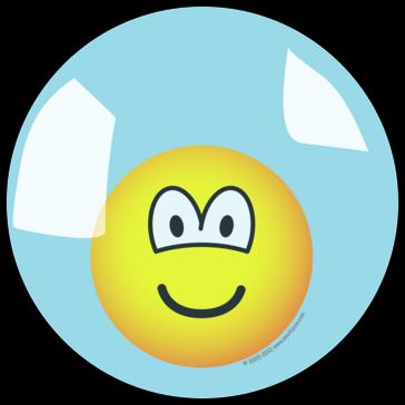 Emoticon in een plastic bubble