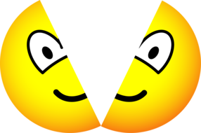 Gespleten emoticon