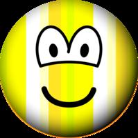 Gestreepte emoticon