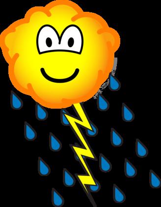 Onweerswolk emoticon