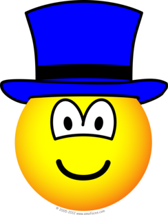 Blauwe hoed emoticon