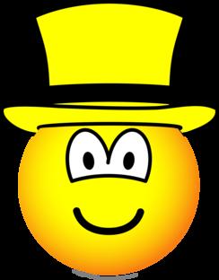 Gele hoed emoticon