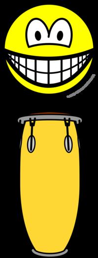 Bongo spelende smile