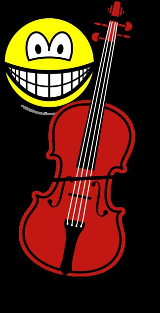 Cello spelende smile