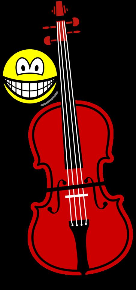 Contra bas spelende smile