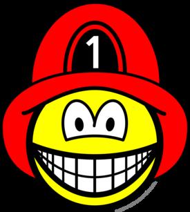 Brandweerman smile