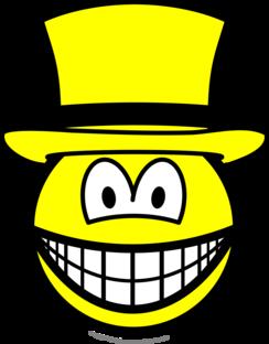 Gele hoed smile
