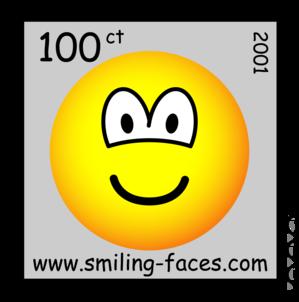 Postzegel emoticon